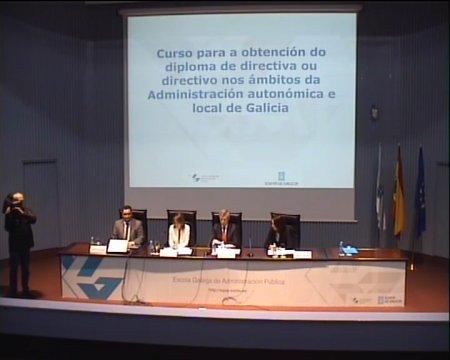 Inauguración do curso para a obtención do diploma de directivo